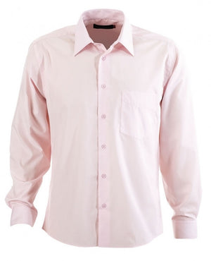 identitee-Identitee Mens Rodeo Long Sleeve-Pink / S-Uniform Wholesalers - 6