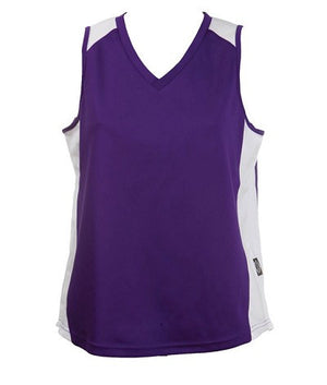 Australian Spirit-Aus Spirt Olympikool Ladies Singlet 2nd ( 9 Colour )-Purple/White / 8-Uniform Wholesalers - 6