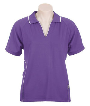 Australian Spirit-Aus Spirt Senator Lady Polo 1st ( 8 Colour )-8 / Purple/White-Uniform Wholesalers - 9