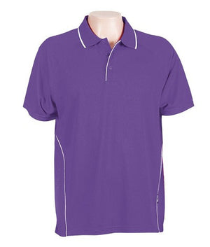 Australian Spirit-Aus Spirt Senator Mens Polo-Purple / White / S-Uniform Wholesalers - 8