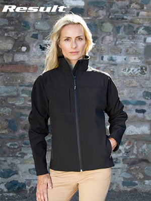 Result  Womens Classic Soft Shell Ladies Jackets (R121F)