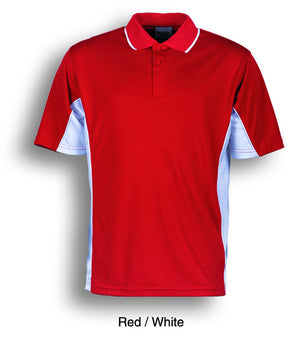 Bocini-Bocini Kids Breezeway Panel Polo(2nd 9 colors)-Red/White / 4-Uniform Wholesalers - 4