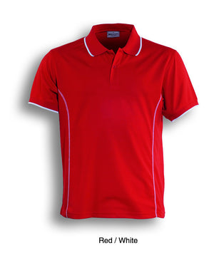 Bocini-Bocini Men's Short Sleeve Polo(2nd 11 colors)-Red/White / S-Uniform Wholesalers - 4