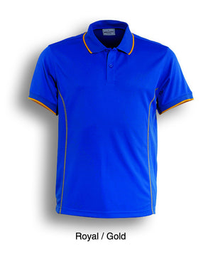 Bocini-Bocini Men's Short Sleeve Polo(2nd 11 colors)-Royal/Gold / S-Uniform Wholesalers - 5