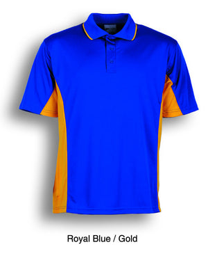 Bocini-Bocini Kids Breezeway Panel Polo(2nd 9 colors)-Royal Blue/Gold / 4-Uniform Wholesalers - 5