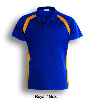Bocini-Bocini Kids Team Essentials Short Sleeve Contrast Panel Polo(2nd 5 colors)-Royal/Gold / 4-Uniform Wholesalers - 2