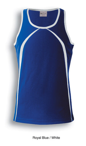 Bocini-Bocini Men's Breezeway Singlet-Royal Blue/White / S-Uniform Wholesalers - 4