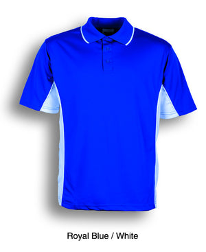 Bocini-Bocini Kids Breezeway Panel Polo(2nd 9 colors)-Royal Blue/White / 4-Uniform Wholesalers - 6