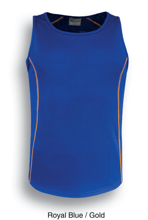 Bocini-Bocini Men's Stitch Singlet 2nd(5 Colour)-Royal Blue/Gold / S-Uniform Wholesalers - 2