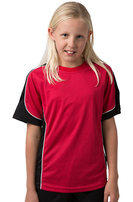 Be Seen-Be Seen Kids Short Sleeve T-shirt-Red-Black-White / 6-Uniform Wholesalers - 9