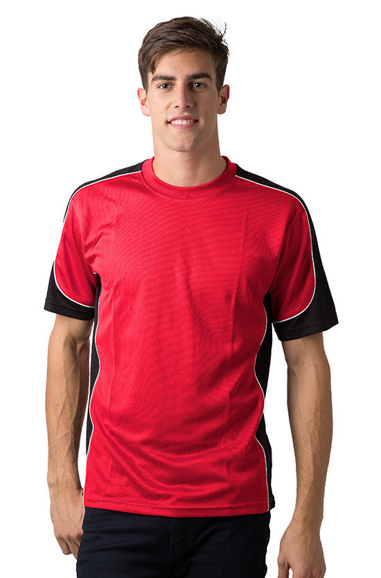 Be Seen-Be Seen Men's Short Sleeve T-shirt With Contrast 2nd( 7 Color )-Red-Black-White / XS-Uniform Wholesalers - 2