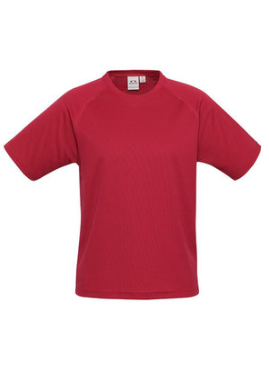 Biz Collection-Biz Collection Mens Sprint Tee-Red / S-Uniform Wholesalers - 6