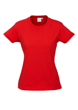 Biz Collection-Biz Collection Ladies Ice Tee 2nd  ( 10 Colour )-Red / 6-Uniform Wholesalers - 8