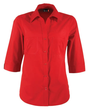 identitee-Identitee Ladies Harley 3/4 Sleeve-Red / 8-Uniform Wholesalers - 6
