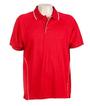Australian Spirit-Aus Spirt Senator Mens Polo-Red / White / S-Uniform Wholesalers - 9