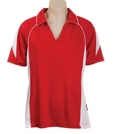 Australian Spirit-Aus Spirt Olympikool Ladies Polo 3rd ( 5 Colour )-Red / White / 8-Uniform Wholesalers - 2