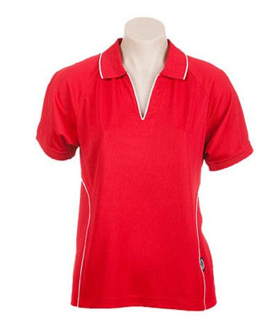 Australian Spirit-Aus Spirt Senator Lady Polo 2nd ( 4 Colour )-8 / Red/White-Uniform Wholesalers - 2