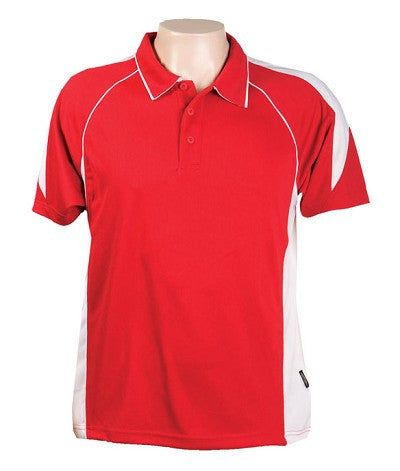 Australian Spirit-Aus Spirt Olympikool Mens Polo 2nd ( 8 Colour )-Red / White / L-Uniform Wholesalers - 8