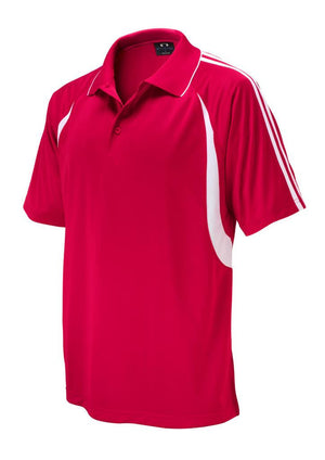 Biz Collection-Biz Collection Mens Flash Polo 1st (  9 Colour )-Red / White / Small-Uniform Wholesalers - 8