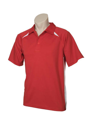 Biz Collection-Biz Collection  Mens Splice Polo 1st ( 10 Colour )-Red / White / Small-Uniform Wholesalers - 9