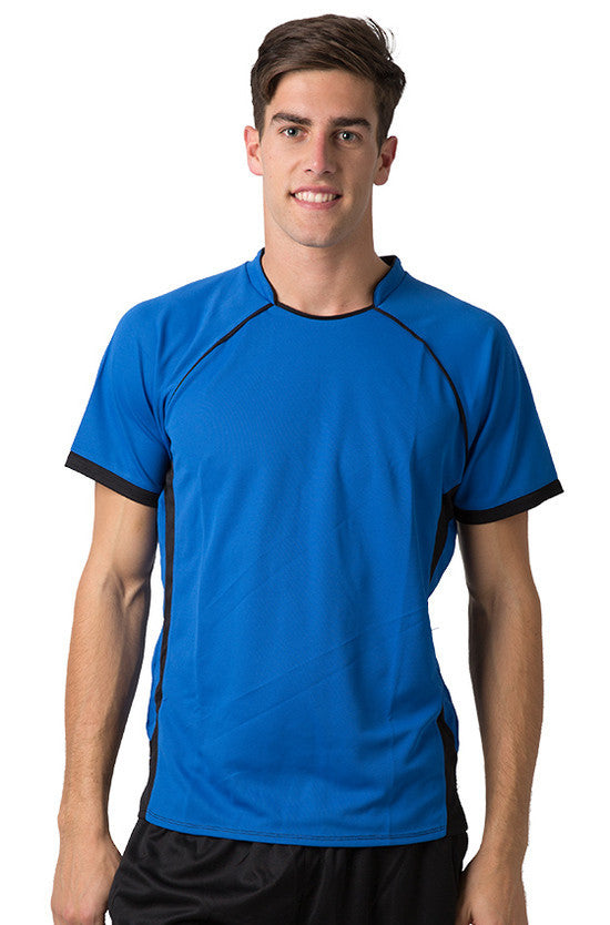 Be Seen-Be Seen Men's Polo Shirt With Pique Knit Body And Contrast 2nd( 7 Color )-Royal-Black / XS-Uniform Wholesalers - 5