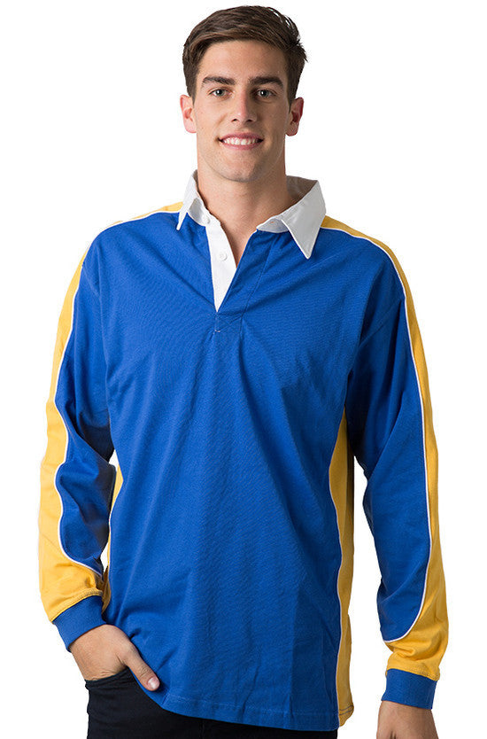 Be Seen-Be Seen Men's Knit Rugby Jersey 2nd( 7 Color )-Royal-Gold-White / XS-Uniform Wholesalers - 5