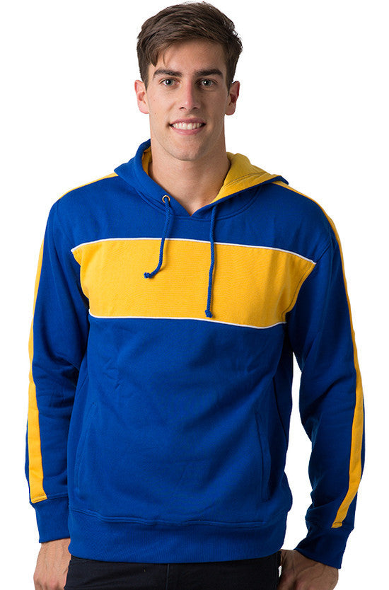 Be Seen-Be Seen Adults Three Toned Hoodie With Contrast-Royal-Light Gold-White / XS-Uniform Wholesalers - 28