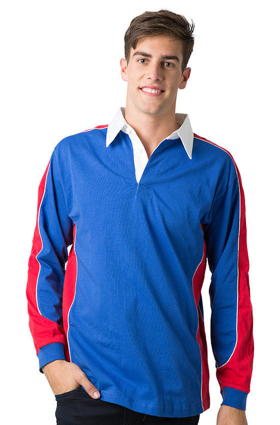 Be Seen-Be Seen Men's Knit Rugby Jersey 2nd( 7 Color )-Royal-Red-White / XS-Uniform Wholesalers - 6