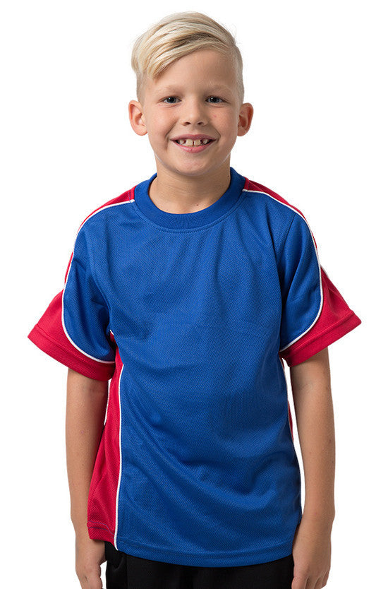 Be Seen-Be Seen Kids Short Sleeve T-shirt-Royal-Red-White / 6-Uniform Wholesalers - 10