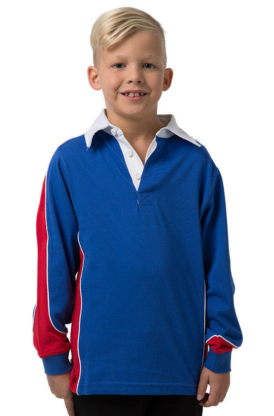 Be Seen-Be Seen Kids Knit Rugby Jersey-Royal-Red-White / 6-Uniform Wholesalers - 13