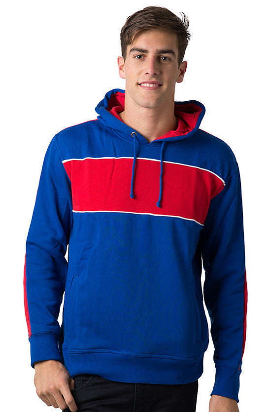 Be Seen-Be Seen Adults Three Toned Hoodie With Contrast-Royal-Red-White / XS-Uniform Wholesalers - 31