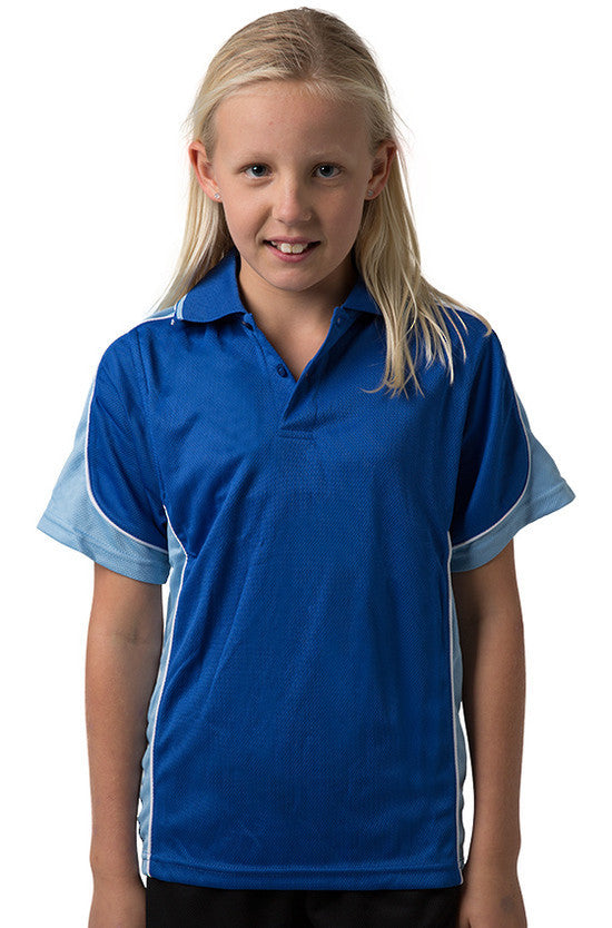 Be Seen-Be Seen Kids Polo Shirt With Striped Collar 4th(14 Color )-Royal-Sky-White / 6-Uniform Wholesalers - 11