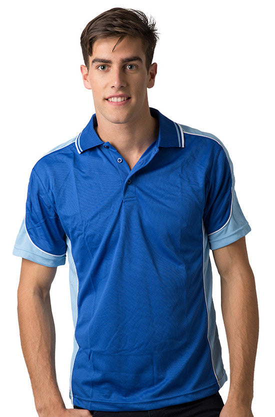 Be Seen-Be Seen Men's Polo Shirt With Striped Collar  6th( 8 Color )-Royal-Sky-White / XS-Uniform Wholesalers - 6