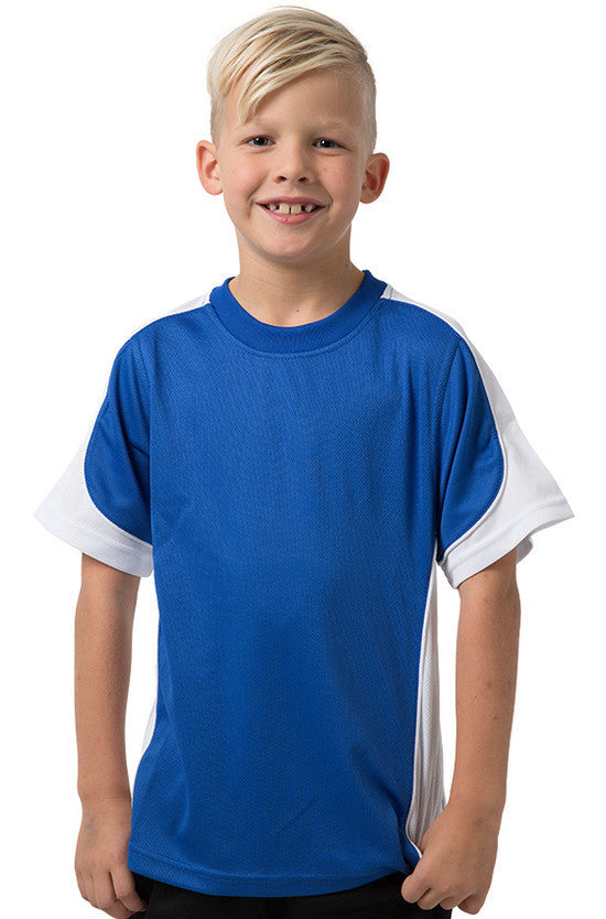 Be Seen-Be Seen Kids Short Sleeve T-shirt-Royal-White-White / 6-Uniform Wholesalers - 11