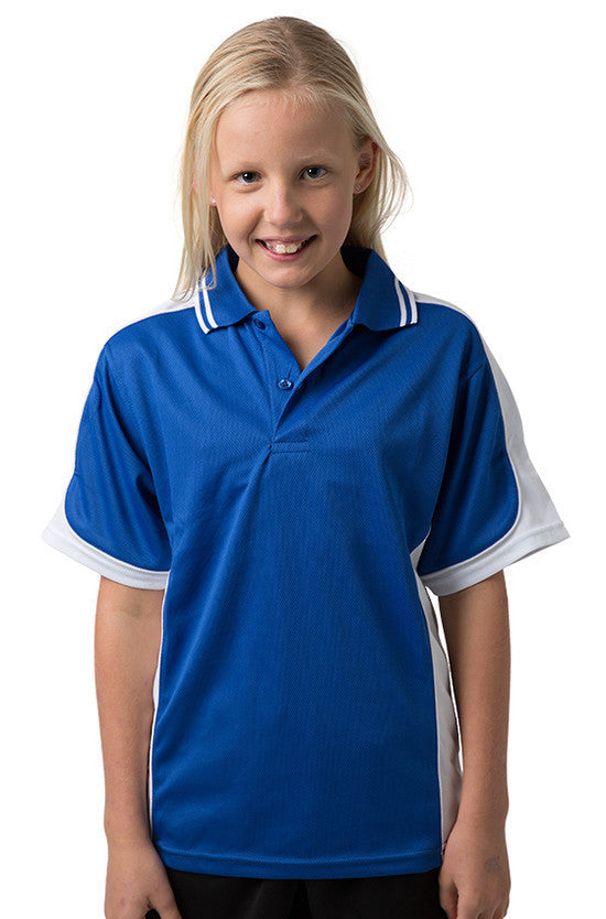 Be Seen-Be Seen Kids Polo Shirt With Striped Collar 4th(14 Color )-Royal-White-White / 6-Uniform Wholesalers - 12