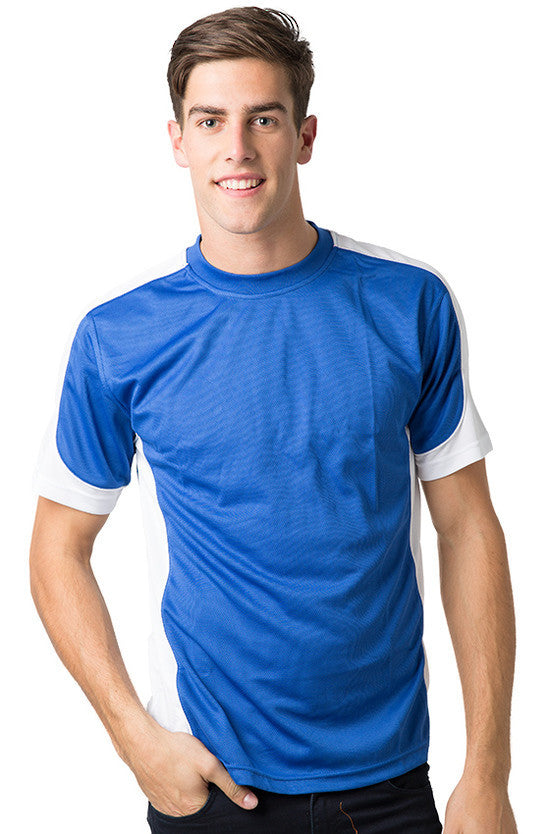 Be Seen-Be Seen Men's Short Sleeve T-shirt With Contrast 2nd( 7 Color )-Royal-White-White / XS-Uniform Wholesalers - 4