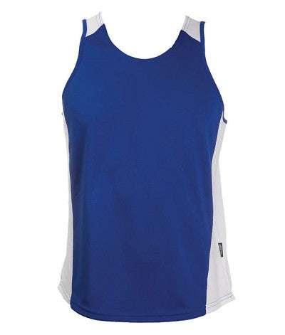 Australian Spirit-Aus Spirt Olympikool Mens Singlets 2nd ( 8 Colour )-Royal blue / White / S-Uniform Wholesalers - 8