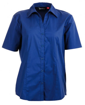 identitee-Identitee Ladies Rodeo Short Sleeve-Royal / 8-Uniform Wholesalers - 7
