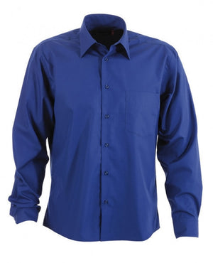 identitee-Identitee Mens Rodeo Long Sleeve-Royal / S-Uniform Wholesalers - 7