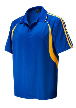 Biz Collection-Biz Collection Mens Flash Polo 1st (  9 Colour )-Royal / Gold / Small-Uniform Wholesalers - 9