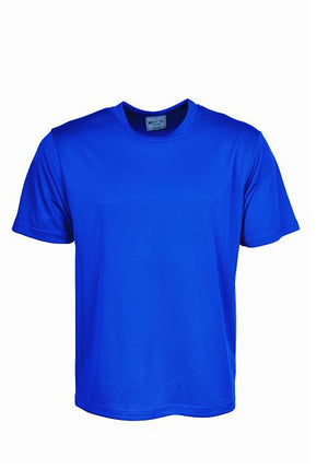 Bocini-Bocini Adults Plain Breezeway Micromesh Tee Shirt 1st (14 Colour)-Royal Blue / S-Uniform Wholesalers - 10
