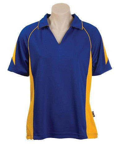 Australian Spirit-Aus Spirt Olympikool Ladies Polo 3rd ( 5 Colour )-Royal blue / Gold / 8-Uniform Wholesalers - 3