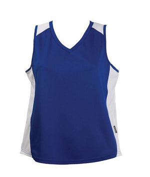 Australian Spirit-Aus Spirt Olympikool Ladies Singlet 2nd ( 9 Colour )-Royal/White / 8-Uniform Wholesalers - 9