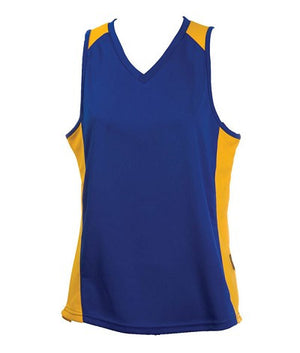 Australian Spirit-Aus Spirt Olympikool Ladies Singlet 2nd ( 9 Colour )-Royal/Gold / 8-Uniform Wholesalers - 8