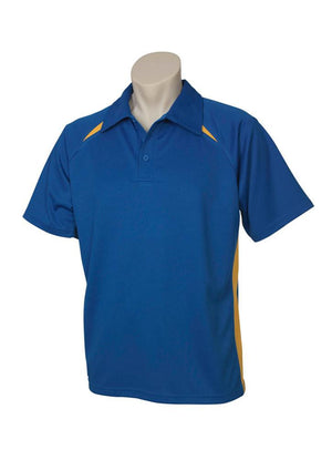 Biz Collection-Biz Collection  Mens Splice Polo 1st ( 10 Colour )-Royal / Gold / Small-Uniform Wholesalers - 10
