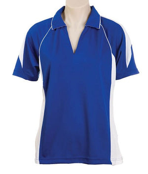 Australian Spirit-Aus Spirt Olympikool Ladies Polo 3rd ( 5 Colour )-Royal blue / White / 8-Uniform Wholesalers - 4