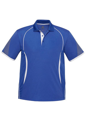 Biz Collection-Biz Collection  Mens Razor Polo-Royal/White / S-Uniform Wholesalers - 11