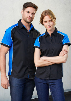 Biz Collection-Biz Collection Mens Nitro Shirt--Uniform Wholesalers - 1