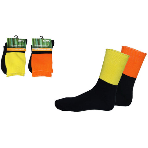 DNC Workwear-DNC Extra Thick Hi-Vis 2 Tone Bamboo Socks--Uniform Wholesalers - 1