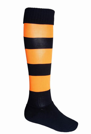 Bocini-Bocini Stripes Socks-Black/Orange / Child-Uniform Wholesalers - 11